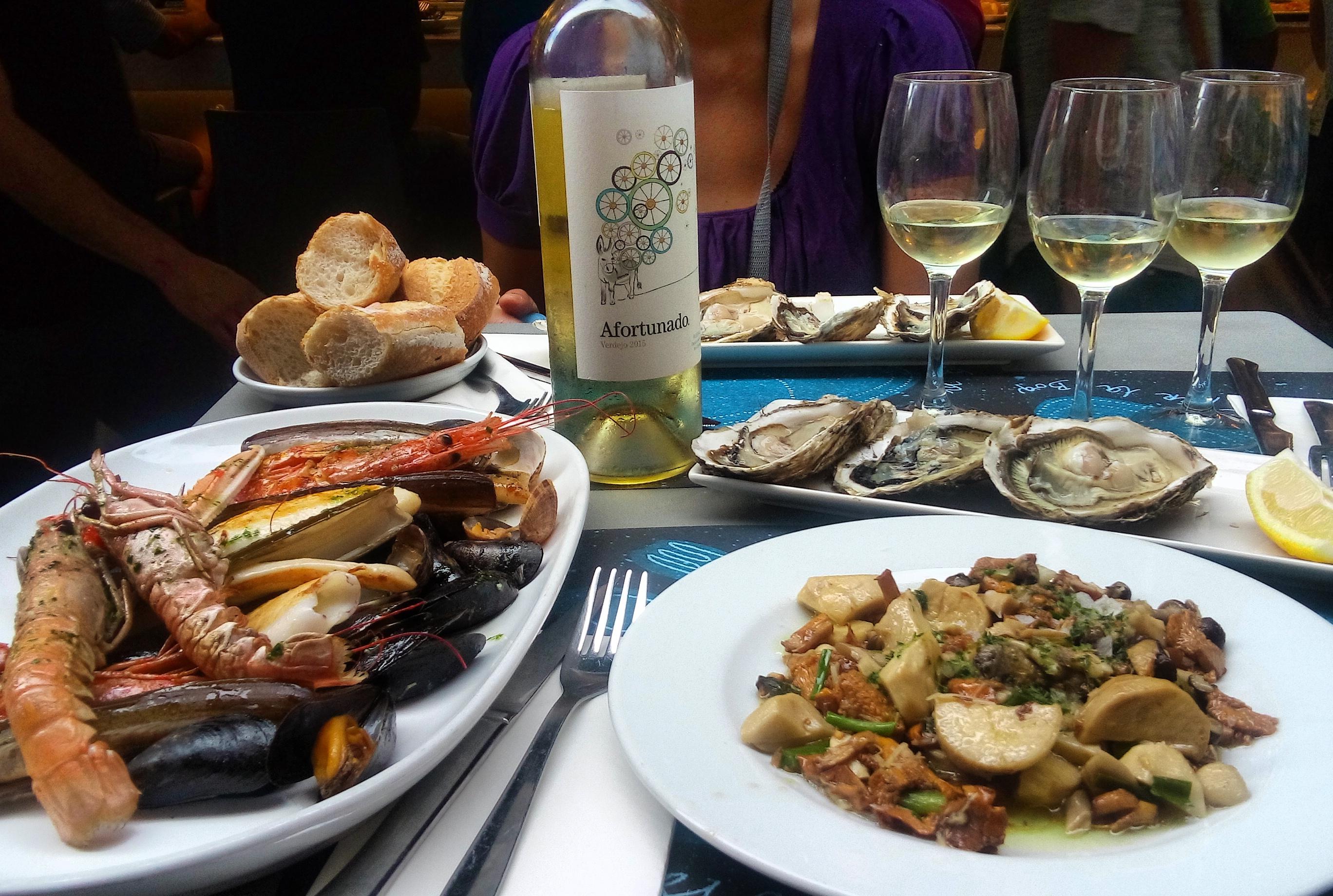Seafood at la Boqueria