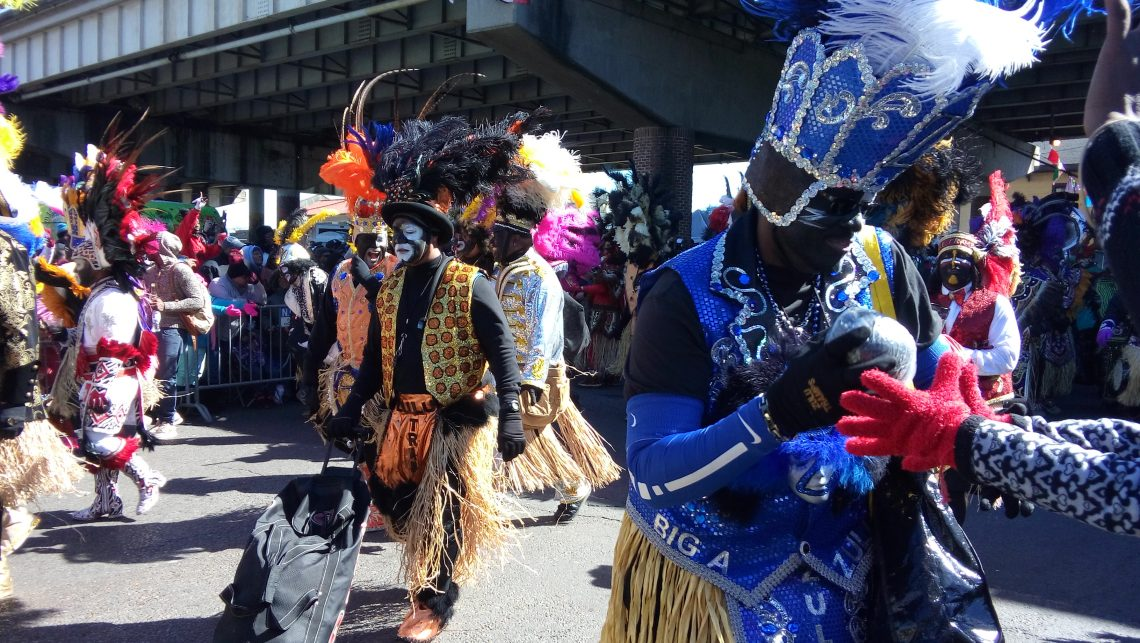 A Zulu giving coconuts away during Mardi Gras in New Orleans