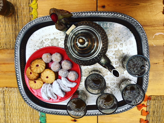 Mint tea and Morrocan pastries