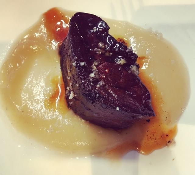 Foie pintxo from La cuchara de San Telmo
